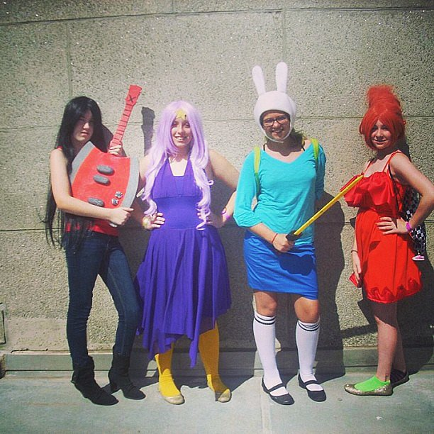 Marceline, LSP, Fionna, and Flame Princess