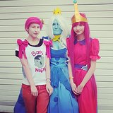 Prince Gumball, Ice Queen, and Princess Bubblegum