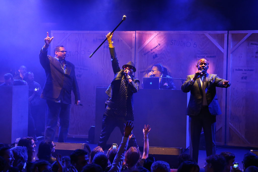 "Sugarhill Gang and Grandmaster Melle Mel hit the stage for a set that included ""White Lines."" Photo courtesy of H&M"