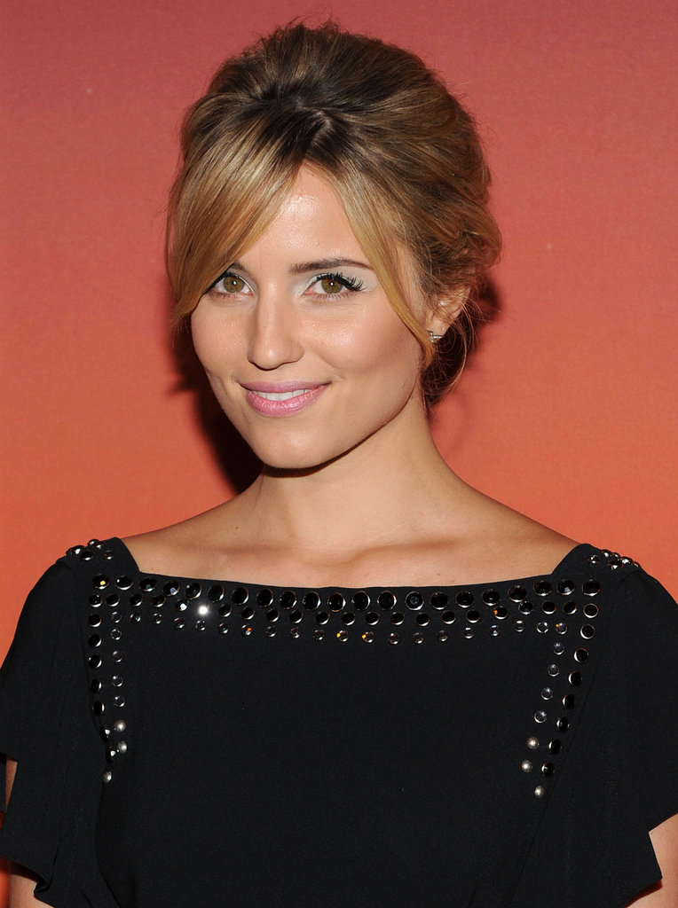 At this year's Whitney Gala, Dianna Agron went for a pastel makeup palette with a wash of soft green from the Giorgio Armani Eyes to Kill Eyeshadow Quad in Pantelleria ($59) all over her lids that really made her eyes pop.