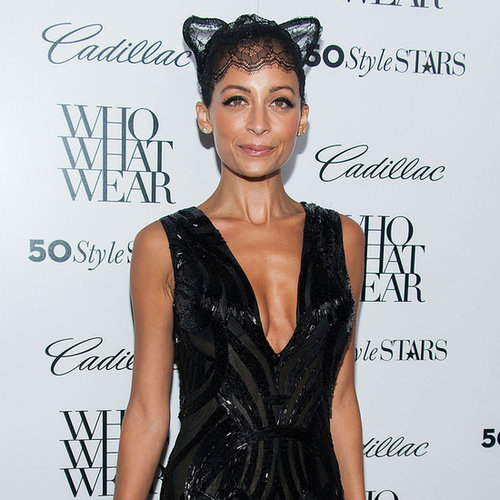 Nicole Richie Wearing Lace Cat Ears