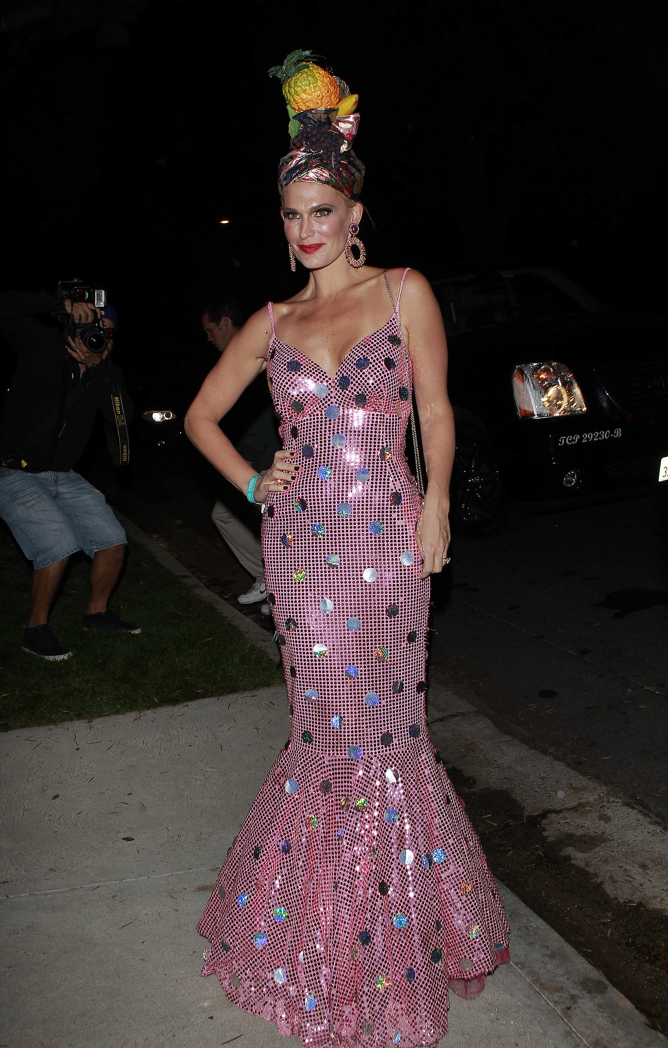 Molly Sims looked like she was aiming for a Chiquita Banana costume at the Casamigos Halloween Party.