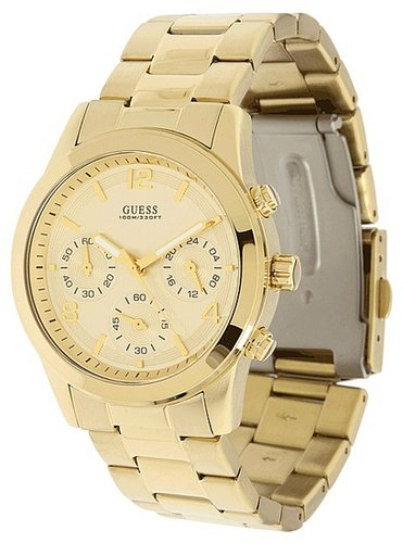 GUESS - U13578L1 Contemporary Watch (Gold/Gold Dial) - Jewelry