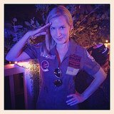 Maverick Angela Kinsey channeled Top Gun's Maverick. Source: Instagram user angelakinsey