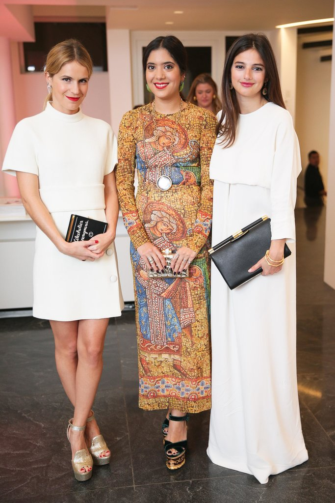 Eugenie Niarchos, Noor Fares, and Natalya Poniatowski joined the stylish partygoers feting amfAR at the Two x Two bash.