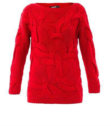 DKNY Twist cable-knit sweater