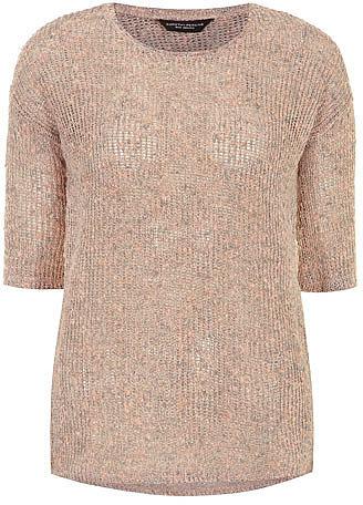 Nude metallic jersey knit