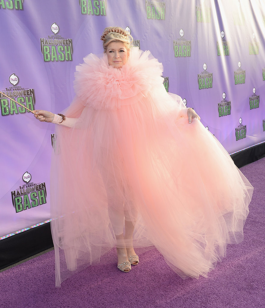 Martha Stewart played the part of do-good fairy Glinda the Good Witch at Hub Network's Halloween bash.
