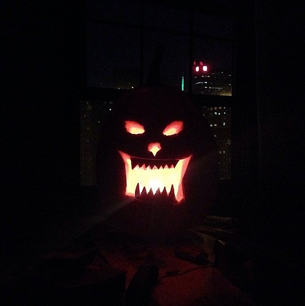 Laura Love's pumpkin had a view. Source: Instagram user lootin