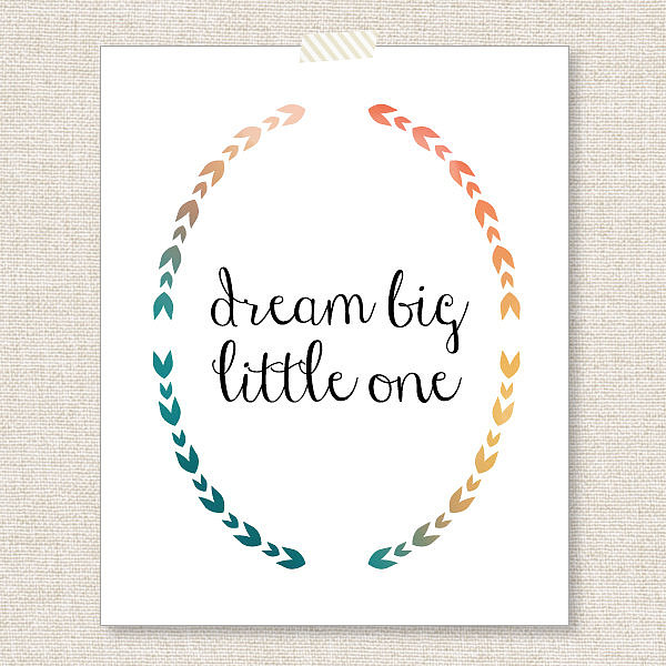The Fall colors of this dream big poster ($12) are just one reason to love the print.