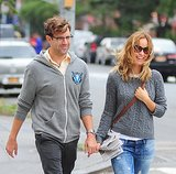 Olivia Wilde and Jason Sudeikis held hands while walking through NYC's West Village in September 2012.