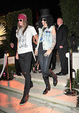 Guns N' Roses Cindy Crawford and her husband, Rande Gerber, rocked out as Guns N' Roses members Slash and Axl Rose.
