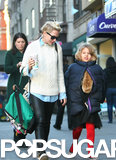 Michelle Williams walked around NYC with her daughter, Matilda, on Monday.