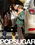 Gisele Bündchen kissed her son, Jack, goodbye at a Boston train station on Sunday.