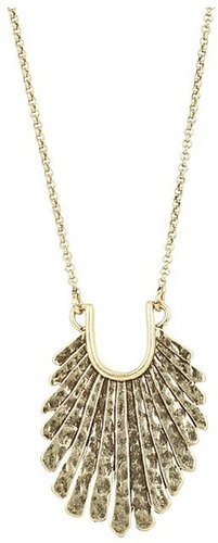 Lucky Brand - Henna Dreams Gold Fan Necklace (Gold) - Jewelry