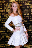 Blake Lively wore a Balmain dress.