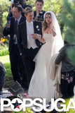 Gabriel Mann and Emily VanCamp filmed a wedding scene.