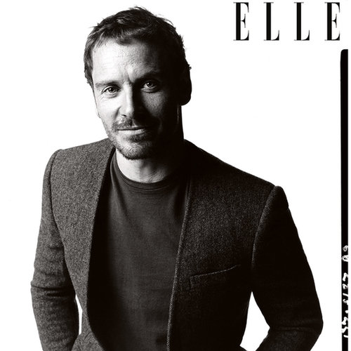Michael Fassbender in Elle UK December 2013 Issue
