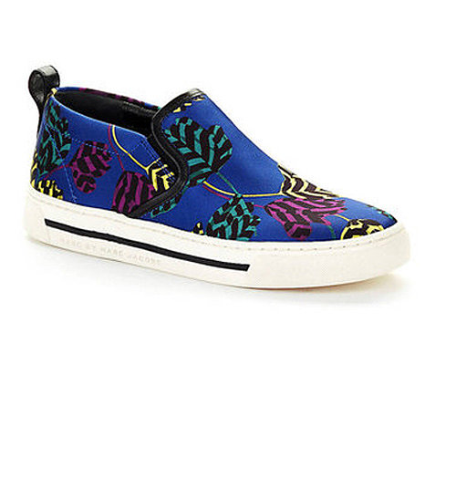 For fashion-lovers who are all about standing out, this shoe's for you. Marc by Marc Jacobs did the shoe of the season ($248) in a bold blue print.