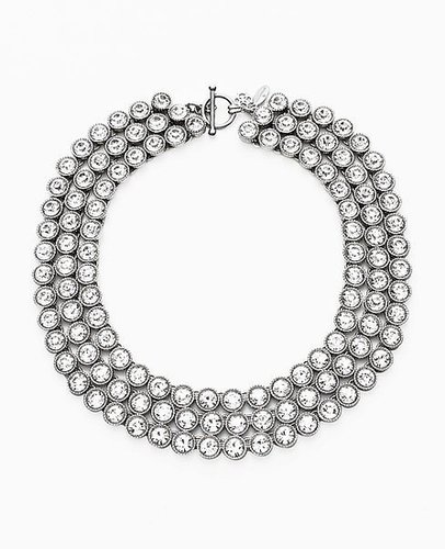 Triple Row Crystal Statement Necklace