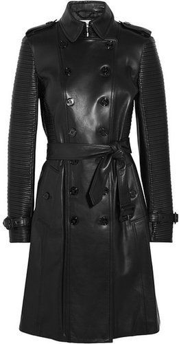 Burberry London Ribbed leather trench coat