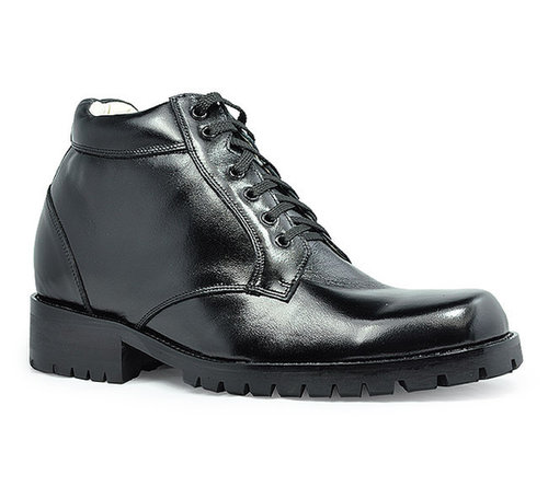 Black men height elevator boots that make you taller 9cm / 3.54inch