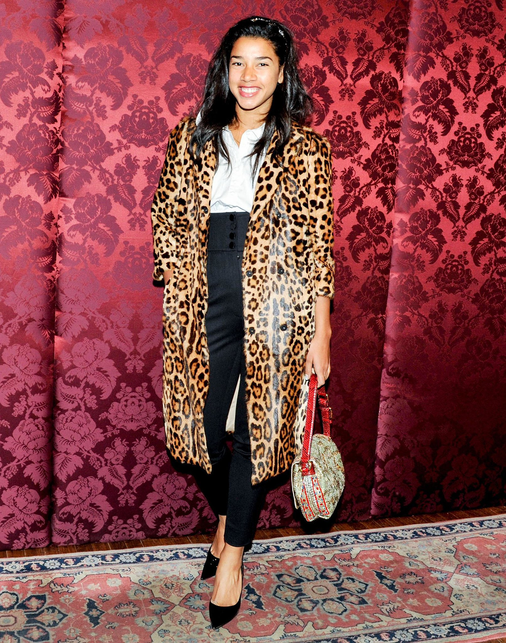 Hannah Bronfman was spotted in leopard print at Artwalk's party.