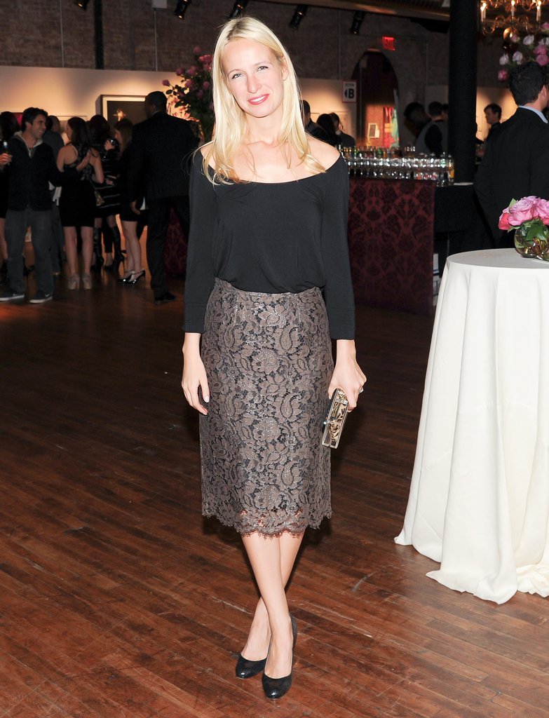 At the Artwalk New York benefit, Misha Nonoo looked lovely in lace.