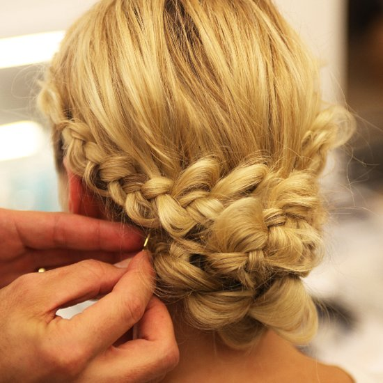 Monique Lhuillier Bridal Fall 2014 Braided Hairstyles