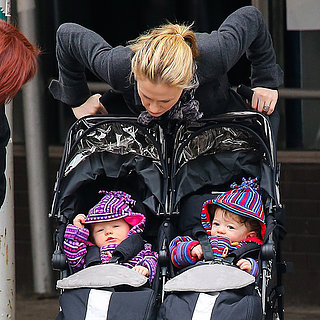 Anna Paquin With Twins Poppy and Charlie in NYC