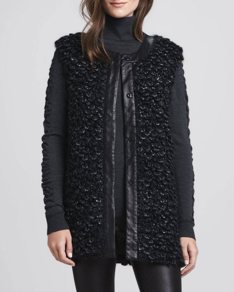 The perfect way to add texture (and warmth!) to an all-black outfit is with this