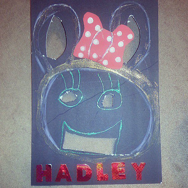 When you DIY a Minnie Mouse bean bag toss, but the kids think it's a rabbit.  Source: Instagram user emily3883