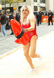 Matt Lauer dressed up as Pamela Anderson from Baywatch.