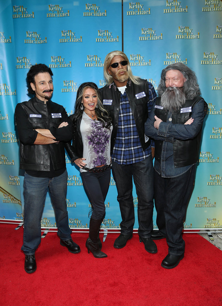 Kelly Ripa and the Live With Kelly and Michael team also dressed up as characters from Sons of Anarchy.