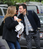 Jimmy Fallon and Nancy Juvonen With Baby in NYC