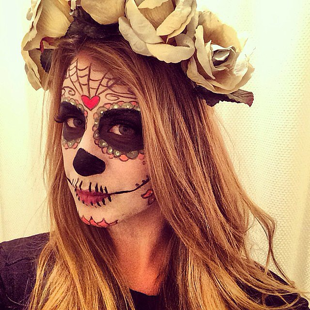 Lo Bosworth showed off her impressive Dia de los Muertes makeup look. Source: Instagram user