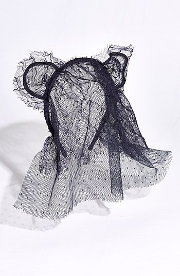 "The Maison Michel ""Heidi"" Cat Ears Double Veil ($519) adds some sexiness to the typical cat ears."