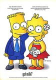 "Bart and Lisa Simpson goofed off in their ""Got Milk?"" ad."