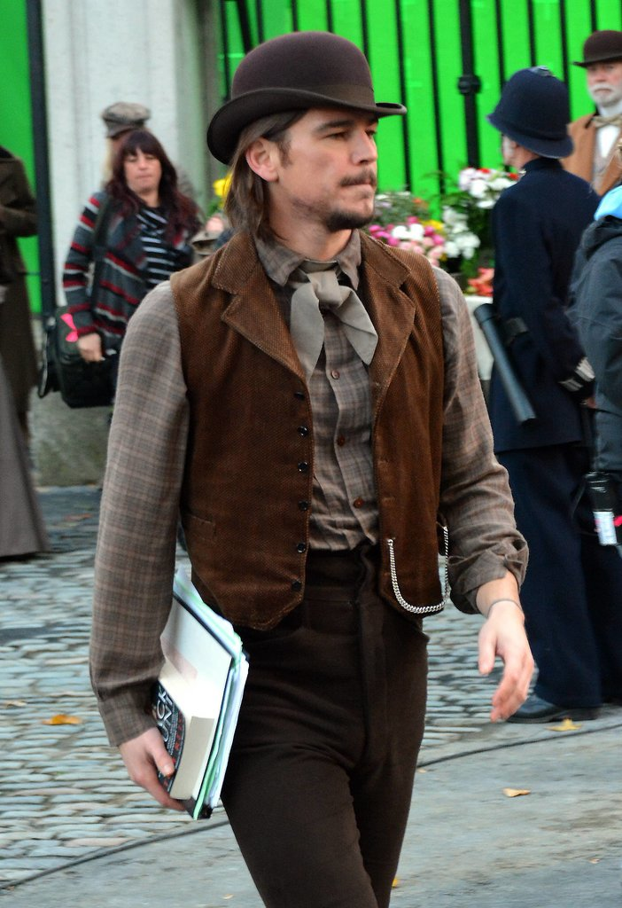 Josh Hartnett got to work on Penny Dreadful on Wednesday in Ireland.