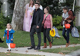 Ben Affleck and Jennifer Garner went trick-or-treating in Brentwood.