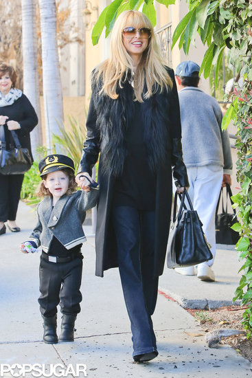 Rachel Zoe's son, Skyler, dressed up as a soldier for trick-or-treating in LA.