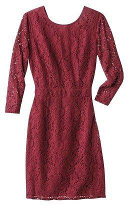 Merona® Women's Longsleeve Lace Dress -Red