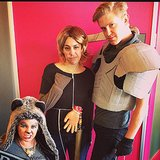 Becca Frucht, Becky Kirsch, and Ryan Roschke from the entertainment team went full-on Game of Thrones, dressing as a direwolf, Jaime Lannister, and Brienne of Tarth. Source: Instagram user popsugarent