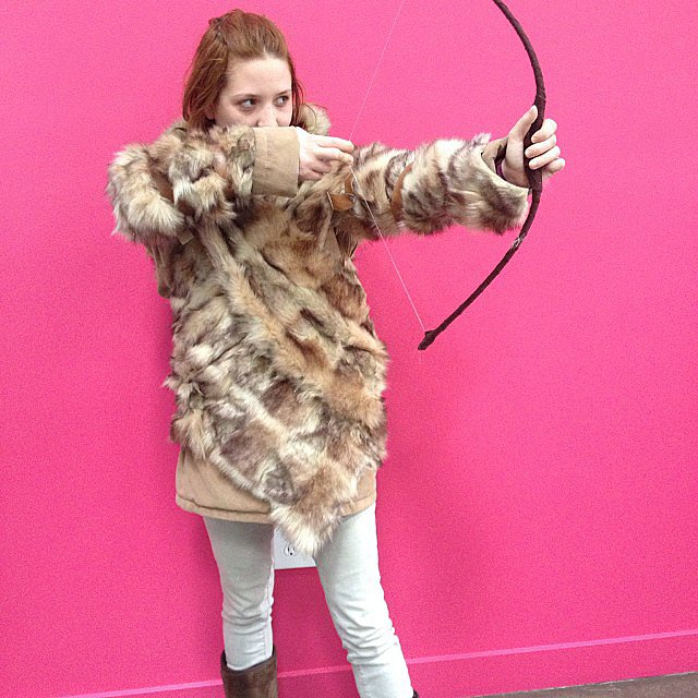 Executive assistant Tiffany Hallett posed as Game of Thrones' Ygritte. Source: Instagram user popsugarent