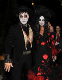Kate Moss and Jamie Hince wore Halloween costumes in London.