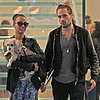 Zoe Saldana With Husband and Dog