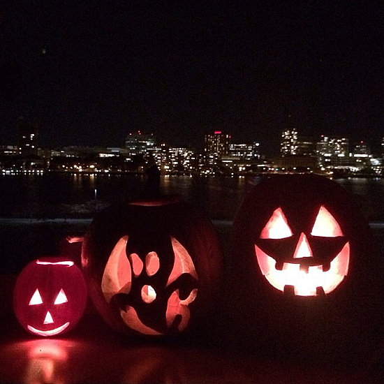 Proud mom Gisele Bundchen showed off Vivian, Benjamin, and John's jack-o'-lanterns.  Source: Instagram user giseleofficial
