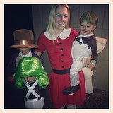 Melissa Joan Hart got into the Willy Wonka theme as Veruca Salt.  Source: Instagram user melissajoanhart