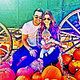 New to Instagram, Joanna Garcia Swisher snapped a shot of husband Nick, daughter Emerson, and herself at the pumpkin patch. 