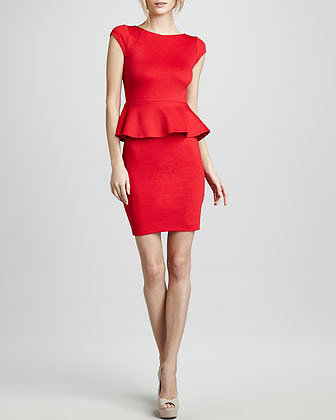 Alice + Olivia Peplum Knit Dress